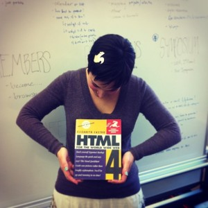 Author with HTML 4 book